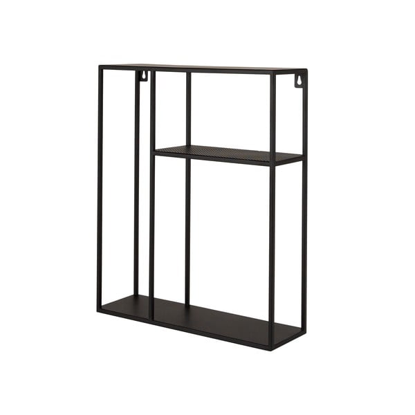 Czarna żelazna półka Canett Joy Thomas, 50x60 cm