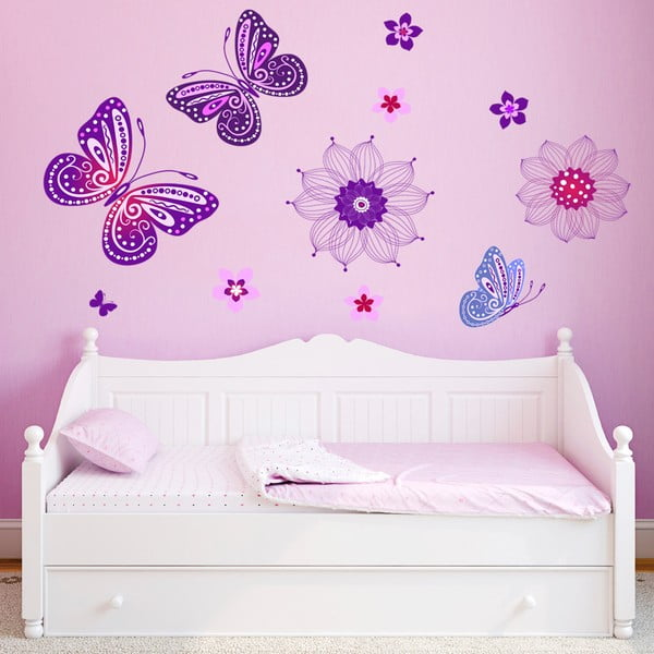 Samolepka na zeď Kouzelní motýlci, 70x50 cm