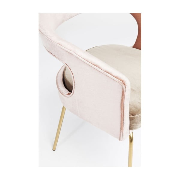 Růžová židle Kare Design Rimini