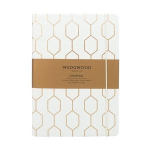 Bílý zápisník A5 Portico Designs Wedgwood, 150stránek