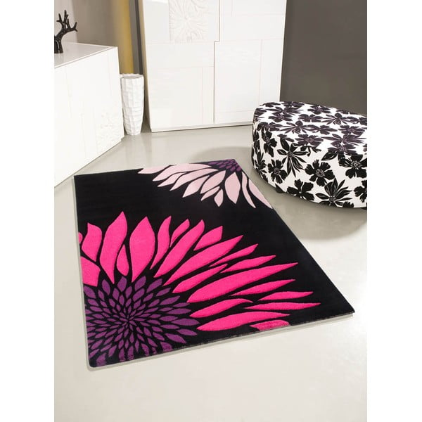 Koberec Lifestyle 174 black/fuchsia, 120x170 cm