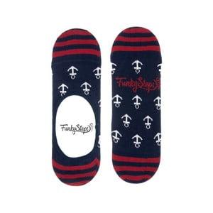 Barevné nízké ponožky Funky Steps Anchor, velikost 39 – 45