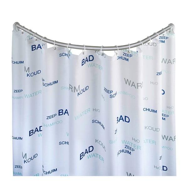 Ezüstszínű hajlított zuhanyfüggöny tartó - Wenko