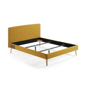 Žlutá dvoulůžková postel La Forma Lydia, 200x160cm