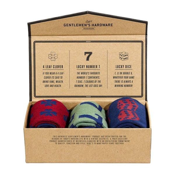 Lucky Socks 3 pár zokni, méret 41 - 45 - Gentlemen's Hardware