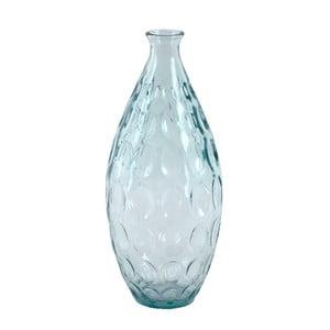 Skleněná váza z recyklovaného skla Ego Dekor Dune, výška 38 cm