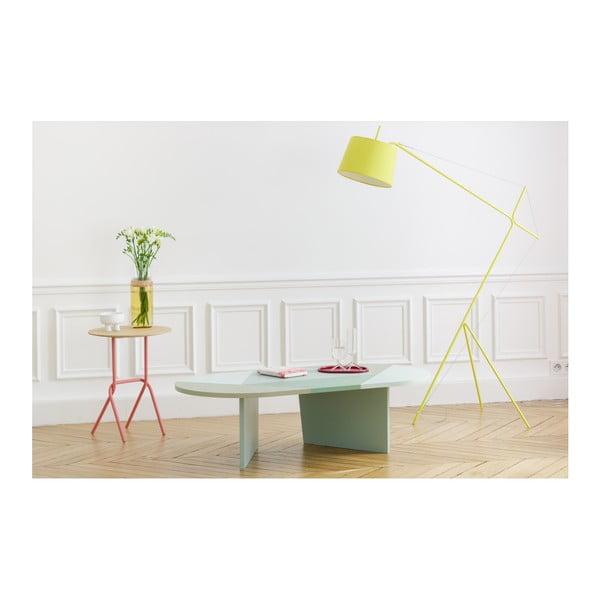 Odkládací stolek s růžovou kovovou konstrukcí HARTÔ Désiré, ⌀ 40cm