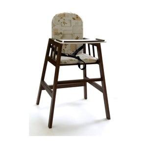 Scaun luat masa pentru copii Faktum Abigel, lemn, maro închis