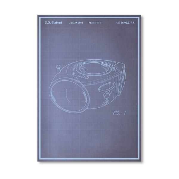 Plakát Boom Box, 30x42 cm