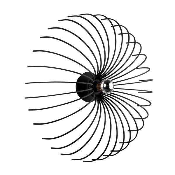 Aspendos fekete falilámpa, ø 56 cm - Opviq lights