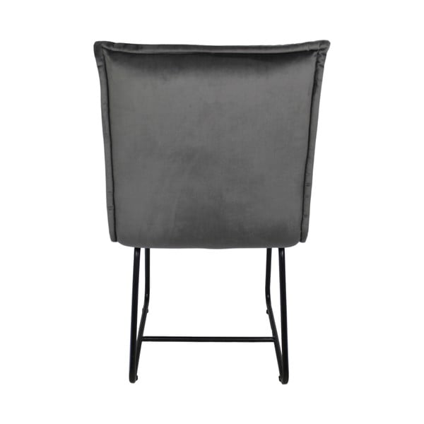 Šedá jídelní židle se sametovým potahem HSM collection Estelle