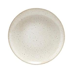 Béžový talíř z kameniny House Doctor, ø 21,4 cm