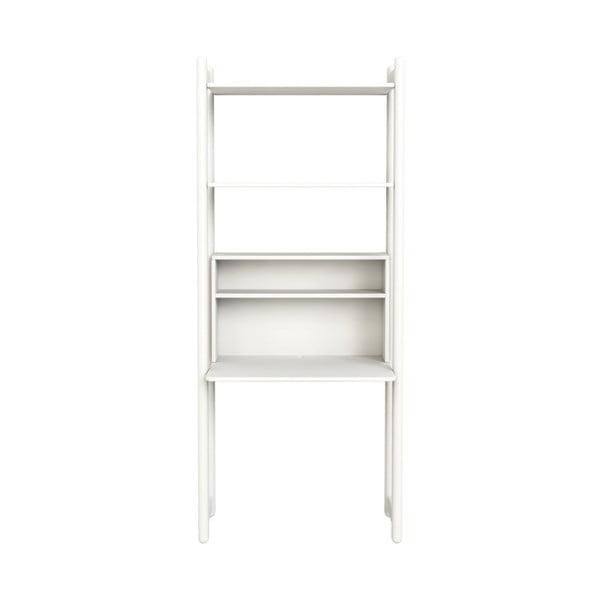 Biała szafka dziecięca z biurkiem Flexa Shelfie, wys. 189,2 cm