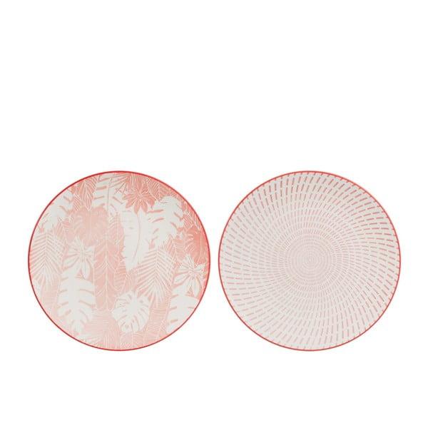 Sada 2 talířů J-Line Tropic Days, ⌀ 21cm