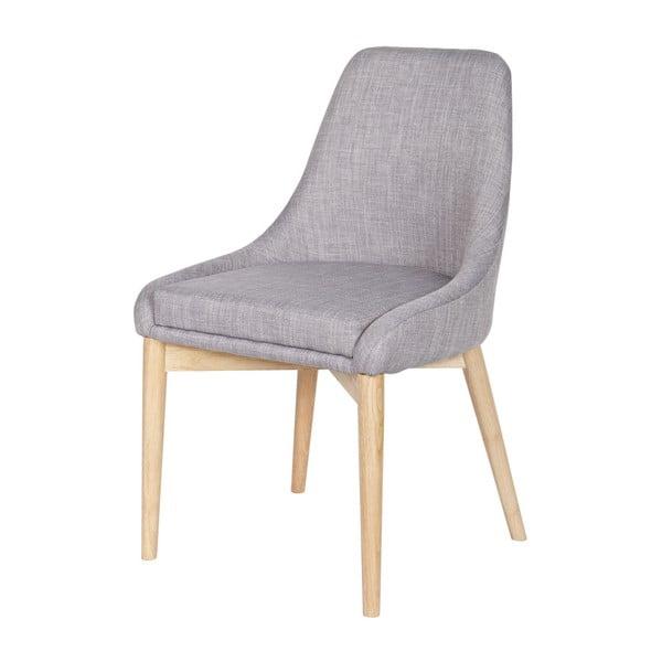 Sada 2 světle šedých židlí De Eekhoorn Kobe