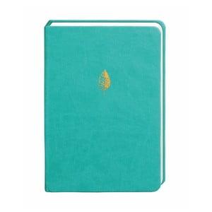 Tyrkysový zápisník Portico Designs, 300 stránek