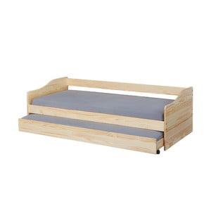 Jednolůžková rozkládací postel z masivního borovicového dřeva Interlink Malte, 90 x 200 cm