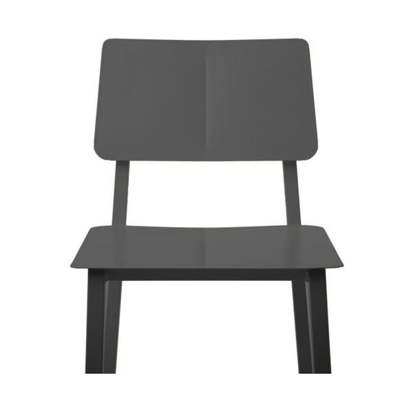 Šedá kovová jídelní židle HARTÔ Rosalie