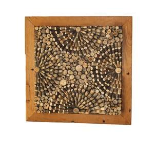 Nástěnná dekorace z teakového dřeva HSM Collection 3D