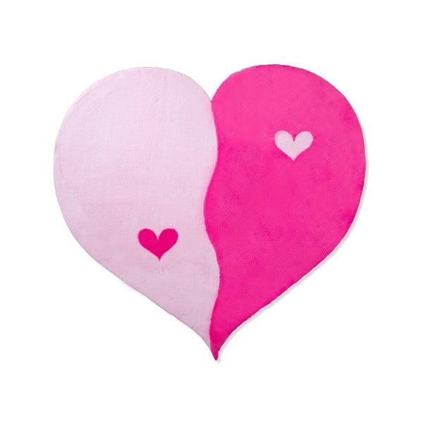 Dětský koberec Beybis Pink Heart, 150 cm