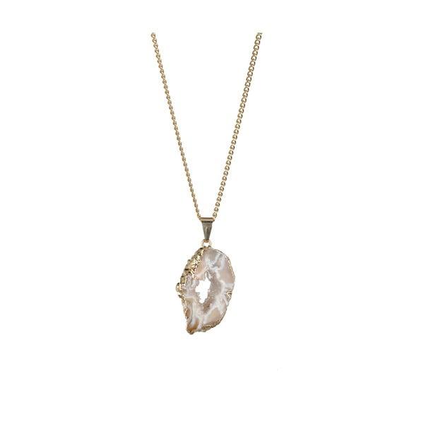 Náhrdelník Geode 45 cm, natural