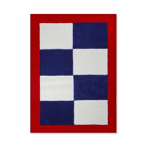 Dětský koberec Mavis Blue and Red Checks, 120x180 cm