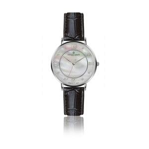 Dámské hodinky s černým páskem z pravé kůže Frederic Graff Silver Liskamm Croco Black Leather