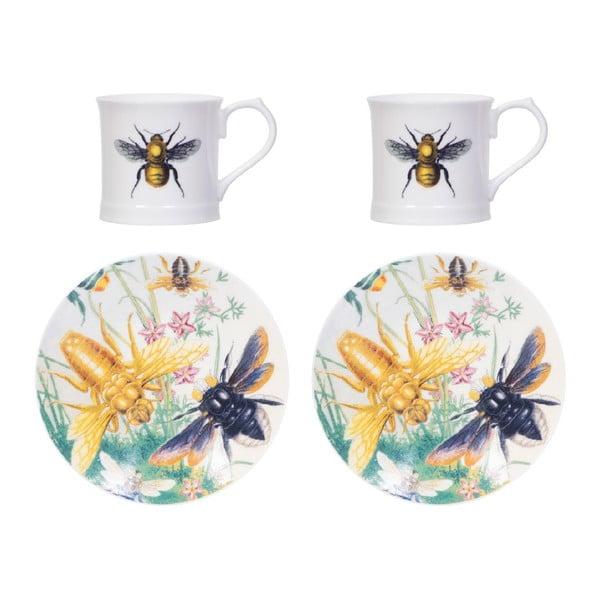 Sada 2 šálků s podšálky Curious Bee