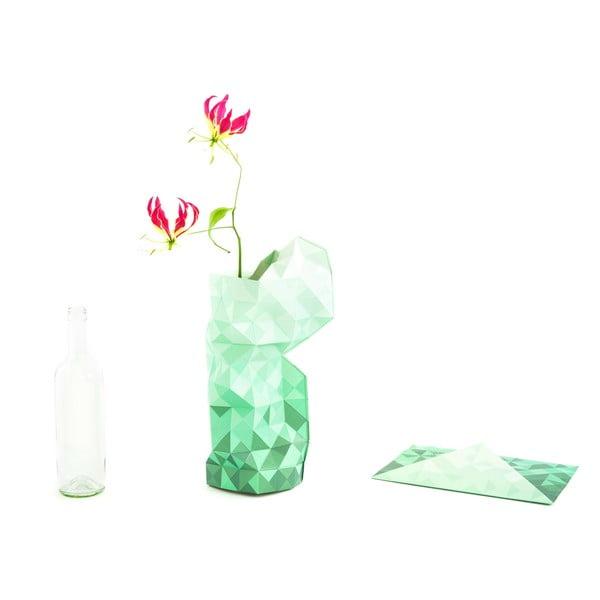 Papírová váza Green Gradient