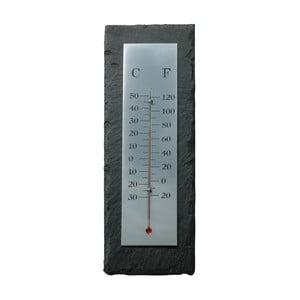 Břidlicový teploměr Esschert Design Rectangle, 30x10cm