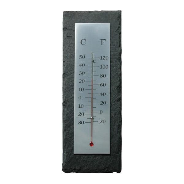 Łupkowy termometr Esschert Design Rectangle, 30x10 cm