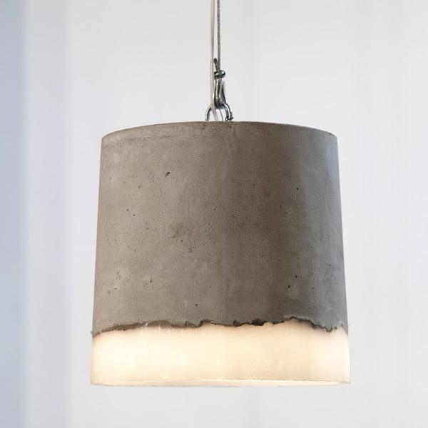 Závěsné svítidlo Beton Round, 18 x 17 cm