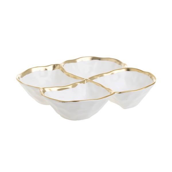 Bílá porcelánová servírovací miska InArt Party, 20,5x20,5cm