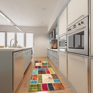 Vysoce odolný kuchyňský koberec Webtappeti Patchwork,60x190cm