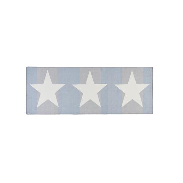 Covor bucătărie Hanse Home Stars, 67 x 180 cm, albastru - gri