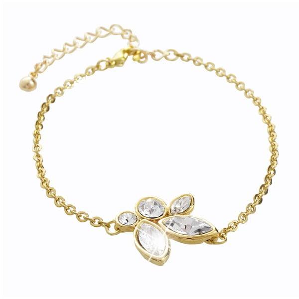 Náramek ve zlaté barvě s krystaly Swarovski® Yasmine Jannicke