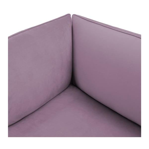 Lila fialový levý rohový modul pohovky Vivonita Velvet Cube