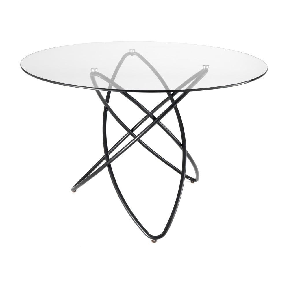 Jídelní stůl s deskou z tvrzeného skla Tomasucci Hula Hoop, ⌀ 120 cm