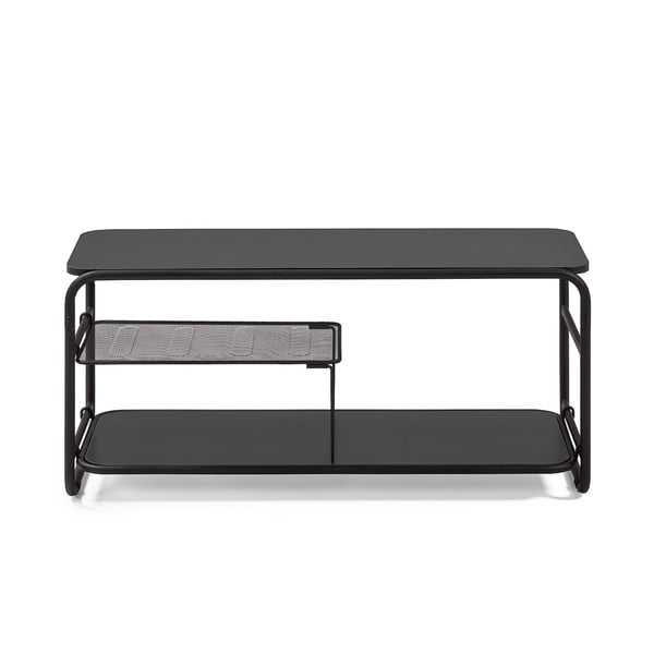 Czarny stolik pod TV La Forma Academy, 98x46 cm