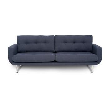 Canapea cu 3 locuri Softnord Fly gri - albastru