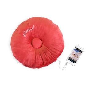 Hi-Sleep Polštářek s vestavěným reproduktorem, červená