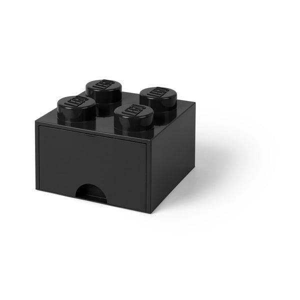Cutie pătrată pentru depozitare LEGO®, negru