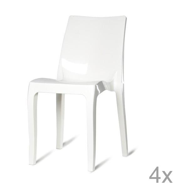 Sada 4 plastových židlí Monte Carlo