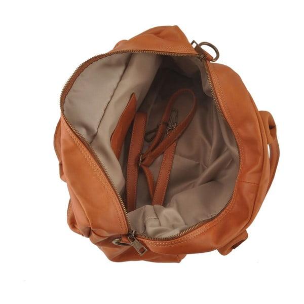 Medově hnědá kožená kabelka Ore Diece Stama