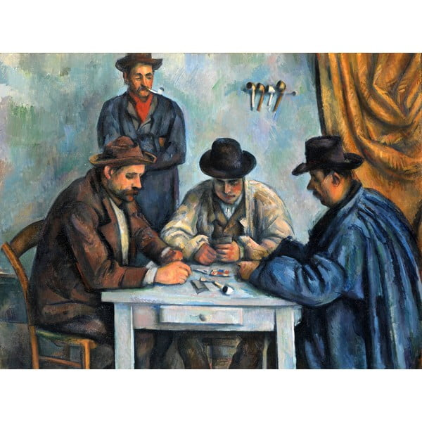Reprodukce obrazu Paul Cézanne - The Card Players, 80 x 60 cm