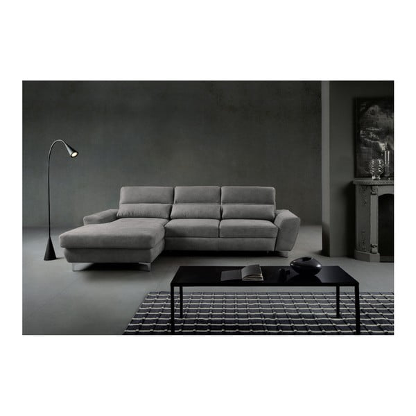Světle šedá rozkládací rohová pohovka Windsor & Co Sofas Omega, levý roh