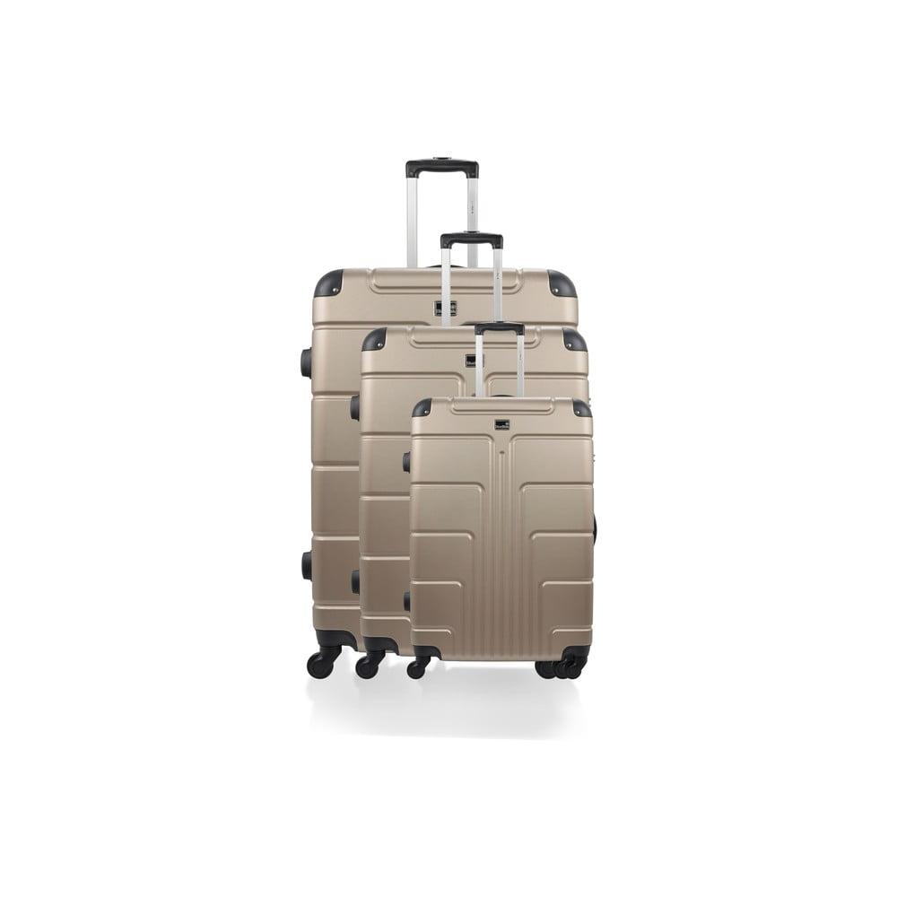 Sada 3 béžových kufrů na kolečkách Blue Star Ottawa