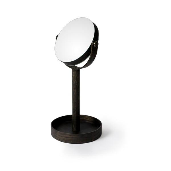 Stolní zrcadlo s poličkou Wireworks Magnify Dark