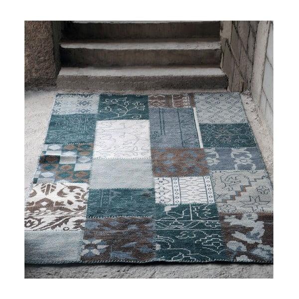 Vlněný koberec Amalfi Grey/Brown, 160x230 cm