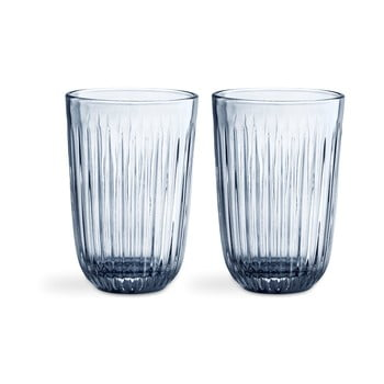 Set 2 pahare din sticlă Kähler Design Hammershoi, 330 ml, albastru imagine